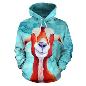 All over print hoodie for men & women - goat 17