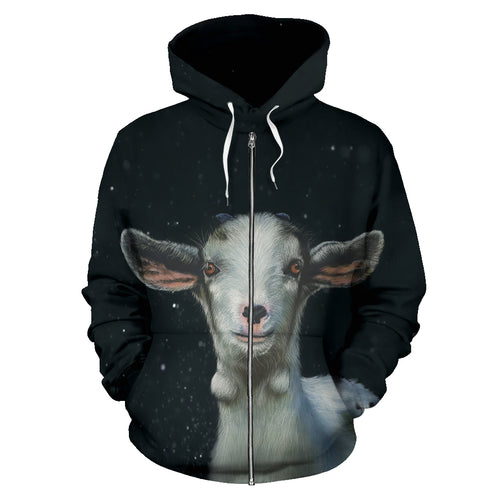 All over Zip-up hoodie  - Goat 03