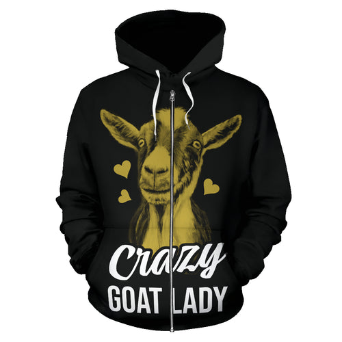 All over Zip-up hoodie  - Goat 01
