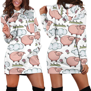 Women's Hoodie Dress - Pig 20