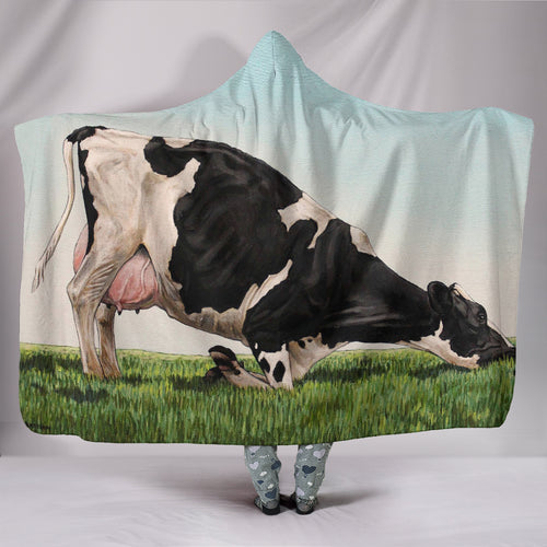 Hooded Blanket - cow  style