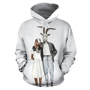 All over print hoodie for men & women - goat 09
