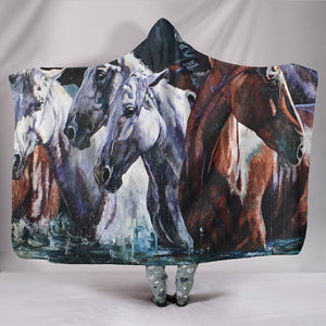 Hooded Blanket - horse style 01