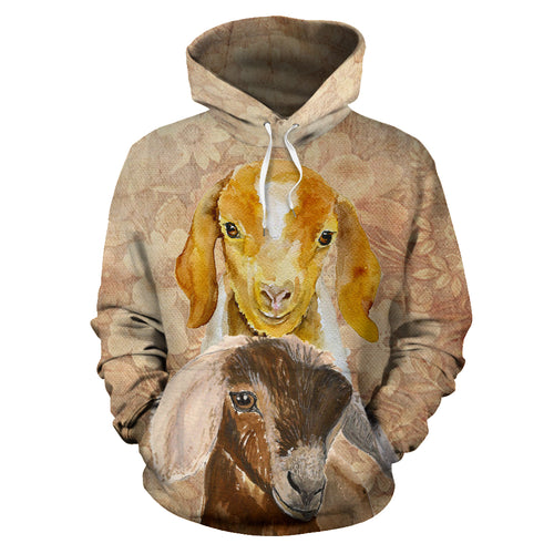 All over print hoodie for men & women - goat  19