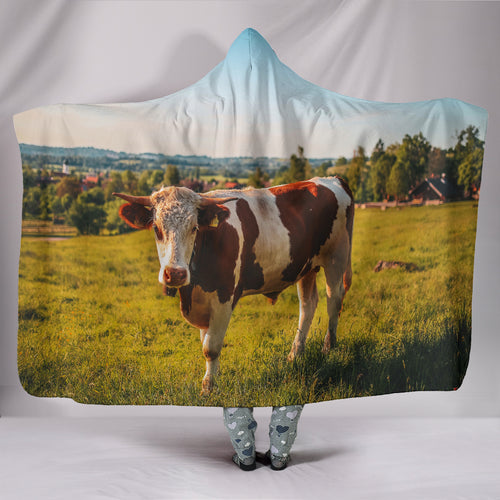 Hooded Blanket - cow style 5