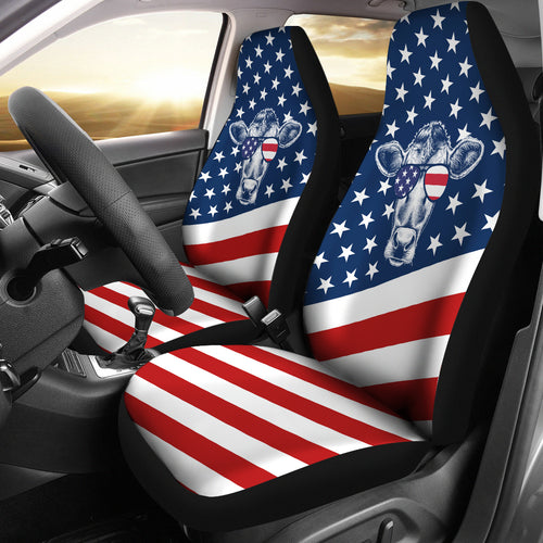 Flag Cow USA - car seat covers