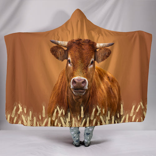 Hooded Blanket - cow painting style 05