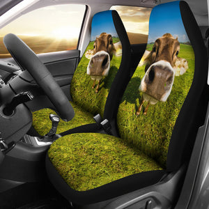 Cute cow - car seat covers