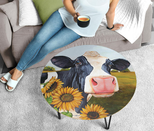 Circular Coffee Table - Cow Lovers 05 (US Only)