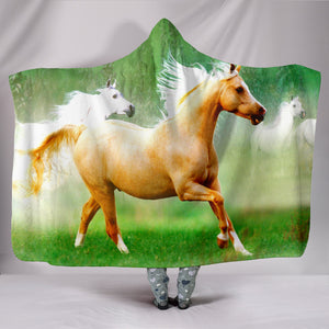 Hooded Blanket - horse style 03