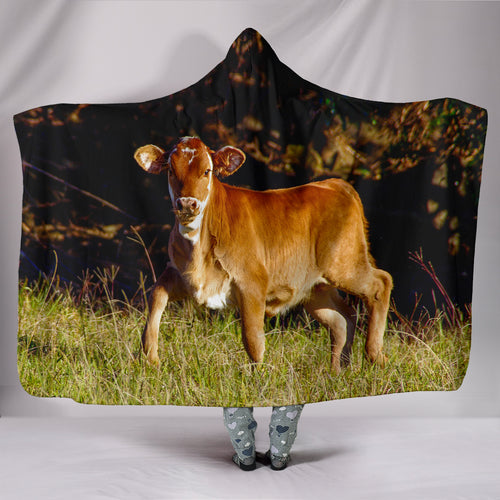 Hooded Blanket - cow style 12
