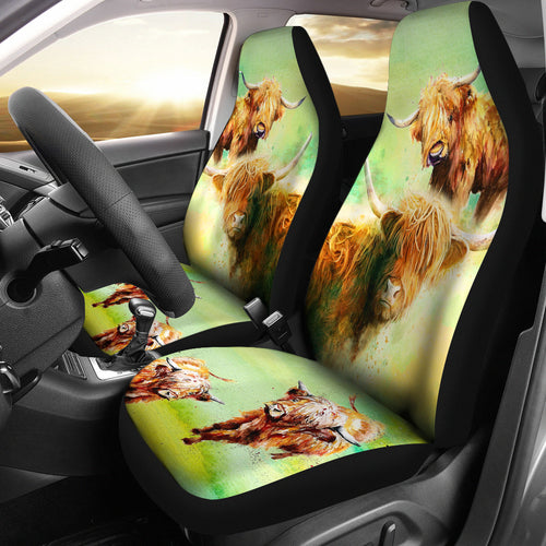 Highland cows - Car Seat Covers