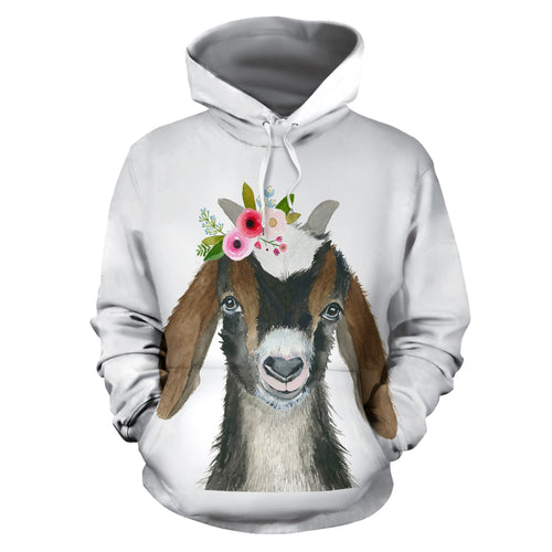All over print hoodie for men & women - goat 07