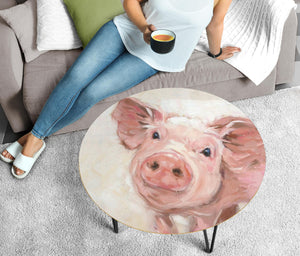 Circular Coffee Table - Pig Lovers 01 (US Only)