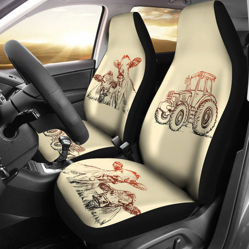 Car Seat Covers - Cow Lovers 18