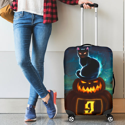 NP Halloween Luggage Cover Cat