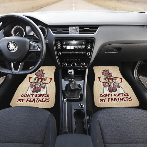 Don't  ruffle my feathers - front car mats (set 2)