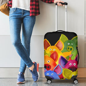 Luggage Cover - Pig Lovers 01