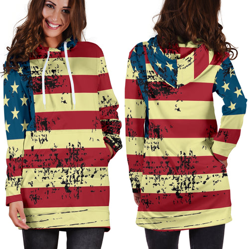 American Flag Hoodie Dress