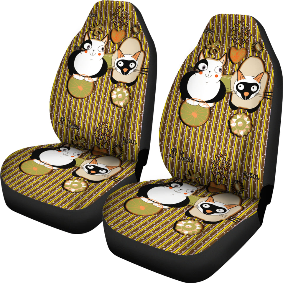 Cute cats car Seat Cover