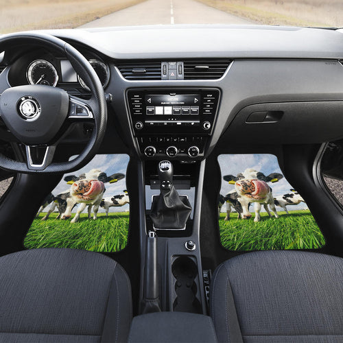 Front car mats (set of 2) - Cow Lovers 02