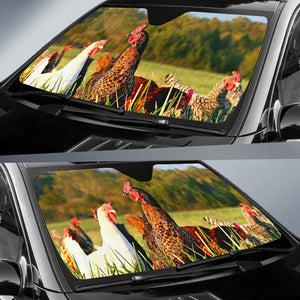 Auto Sun Shades - Chicken 13