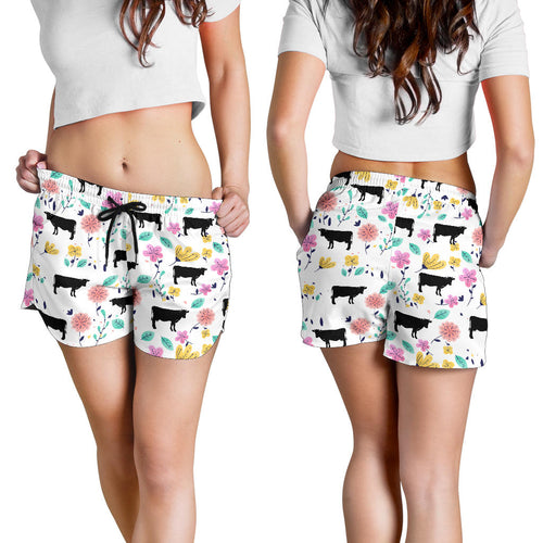 All over print women's shorts - cow 3