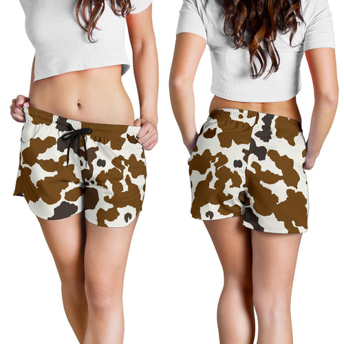 All over print women's shorts - cow 5