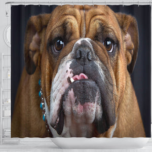 Bulldog Lovers Shower Curtain