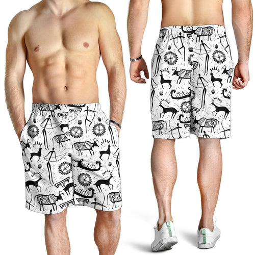All over print men's shorts - cow 4