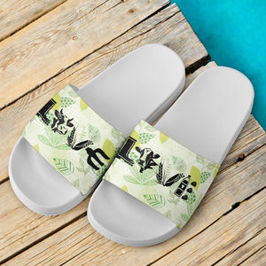Slide Sandals White - Cow 04