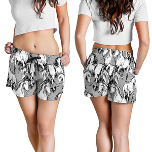 All over print women's shorts - horse 1