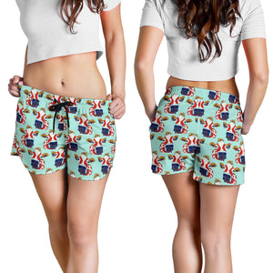 All over print women's shorts - cow 8