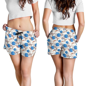 All over print women's shorts - cow 2