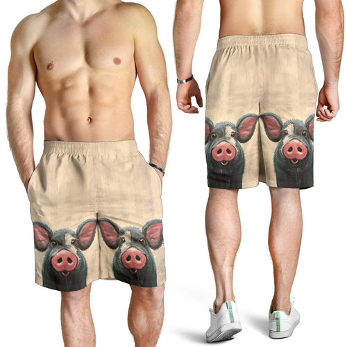 All over print men's shorts - pig 02