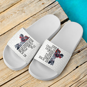 Slide Sandals White - Cow 03
