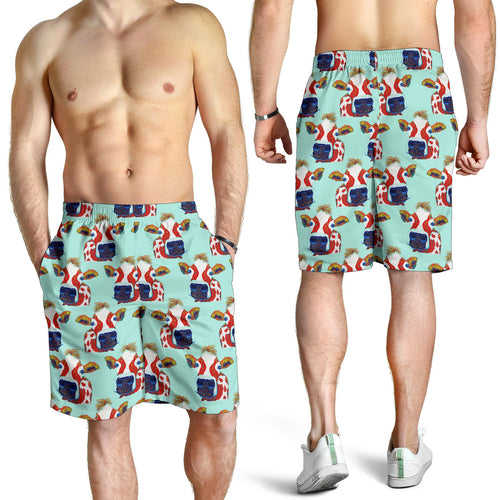 All over print men's shorts - cow 6