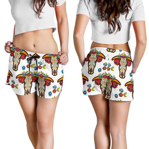 All over print women's shorts - cow 7