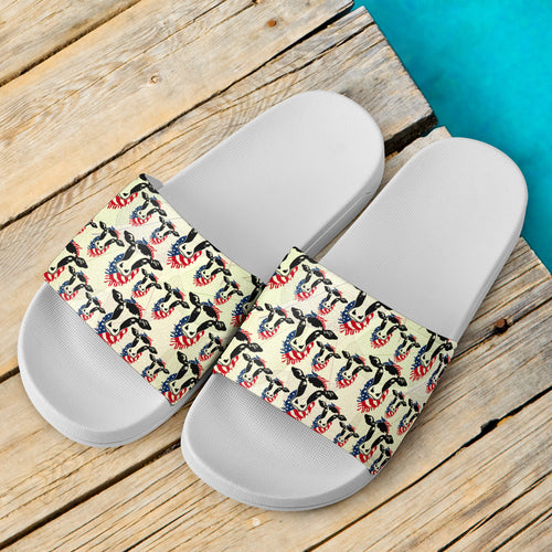 Slide Sandals White - Cow 01