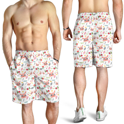 All over print men's shorts - pig 01
