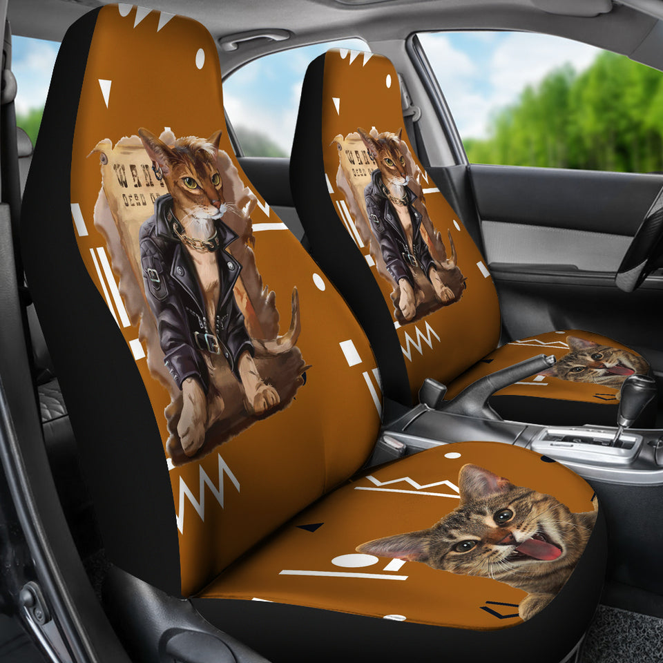 Rock Cat Car Seat Cover