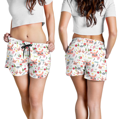 All over print women's shorts - Pig 1