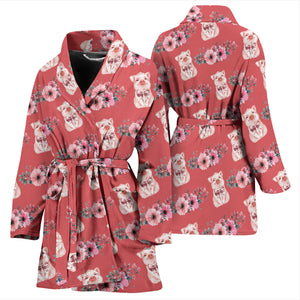 Women's Bath Robe - Pig 04