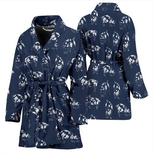 Women's Bath Robe - Pig 02