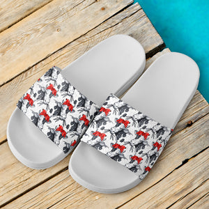 Slide Sandals White - Cow 02