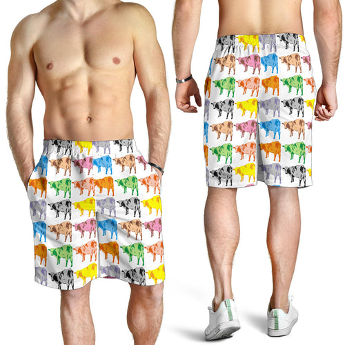 All over print men's shorts - cow 03
