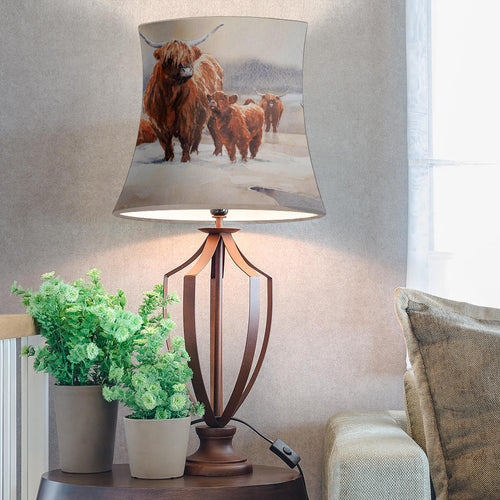 Drum Lamp Shade - Cow Lovers 05