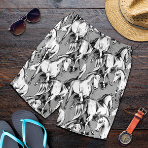 All over print men's shorts - horse 1