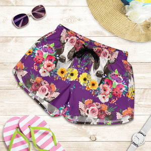 All over print women's shorts - cow 12