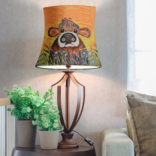 Drum Lamp Shade - Cow Lovers 11